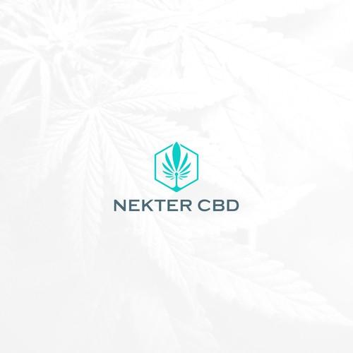 modern hemp CBD logo concept