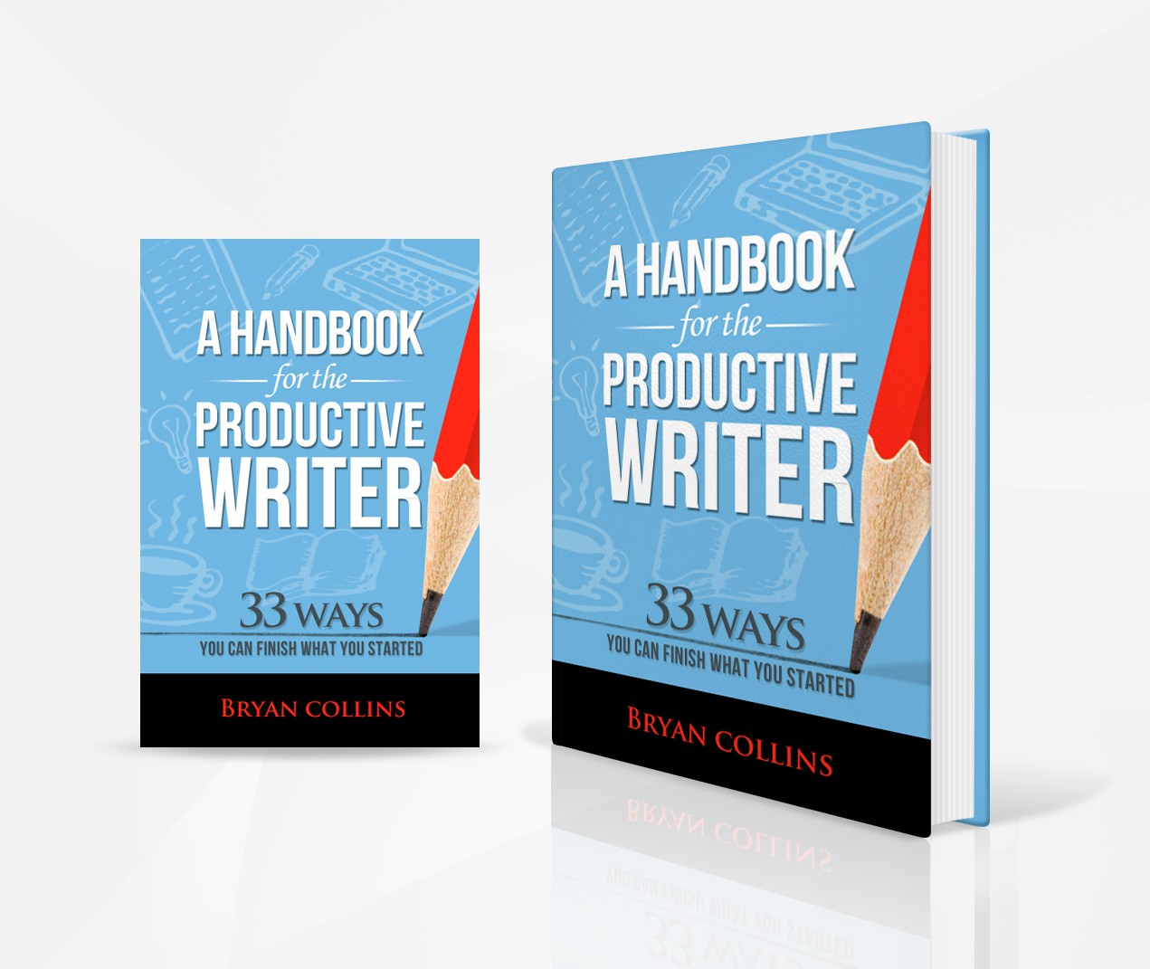 Create a book cover for my handbook for writers