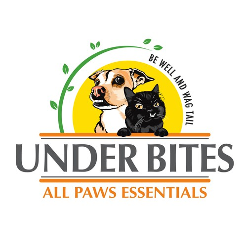 create a stand out design logo for dog and cat treats