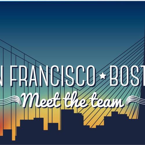 Split skyline image: Boston and San Francisco