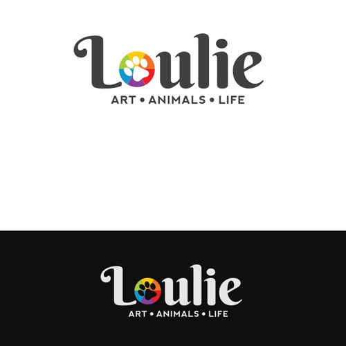 ART & ANIMALS logo for an artist!  Fun, bright & attention-grabbing.