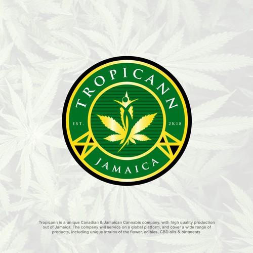 Cannabis badge Logo concept