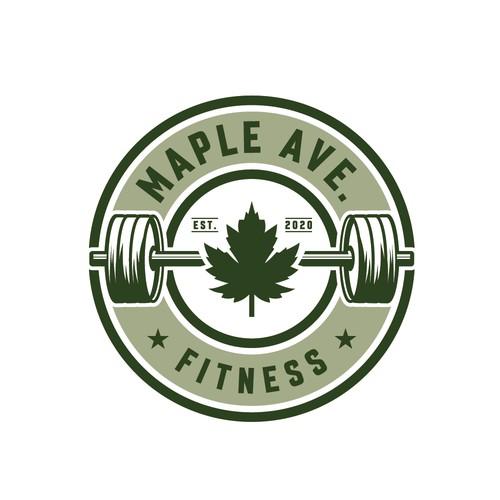 Μaple Ave. Fitness logo design