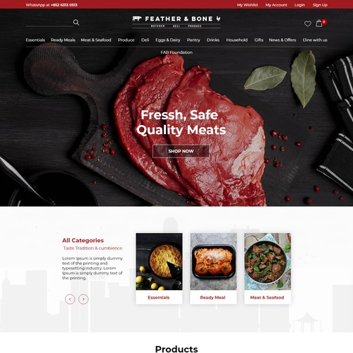 Meat website design