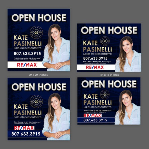 Sign design for open House