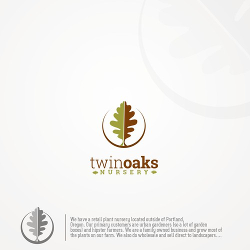 Logo for Twin oaks nursery