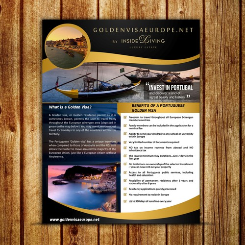 Create an engaging downloadable PDF brochure for a Luxury real estate firm