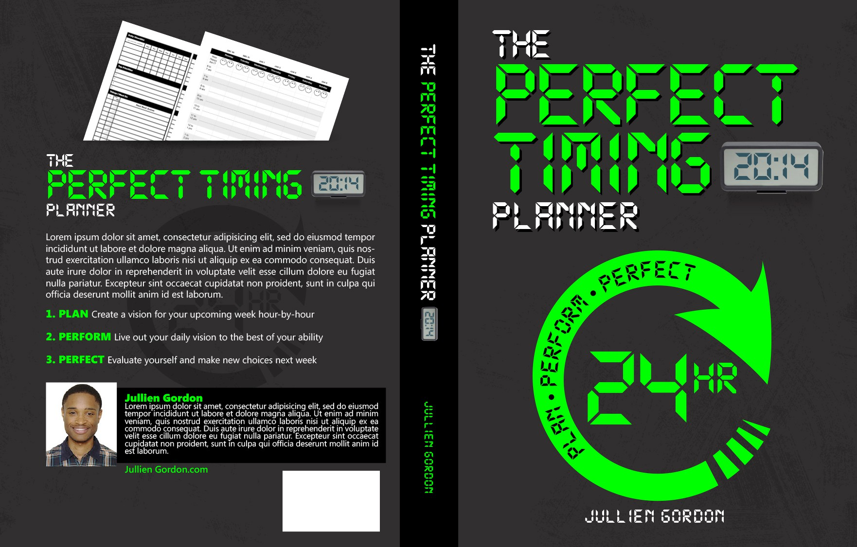 Weekly Planner Front & Back Cover Design