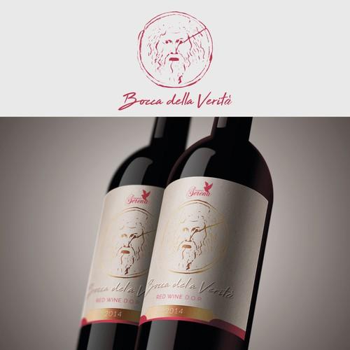 Etichetta per vino rosso