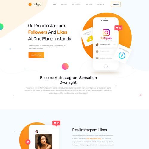 Digic Home page design