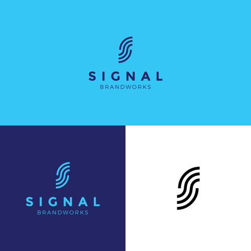 Lettermark logo concept for a consulting business