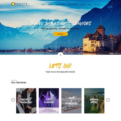 Home Page design for Illico