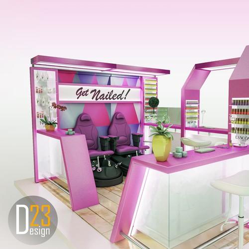Manicure - pedicure stand
