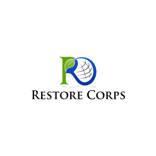 logo and business card for Restore Corps