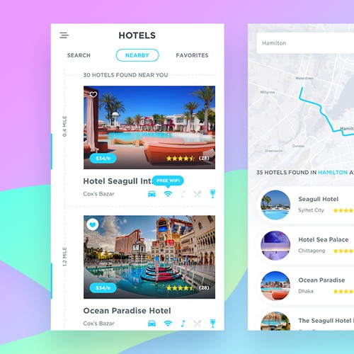 Hotel Booking App Design Concept