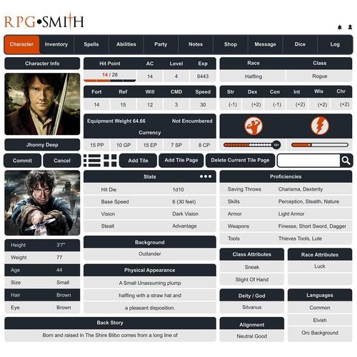 Score page