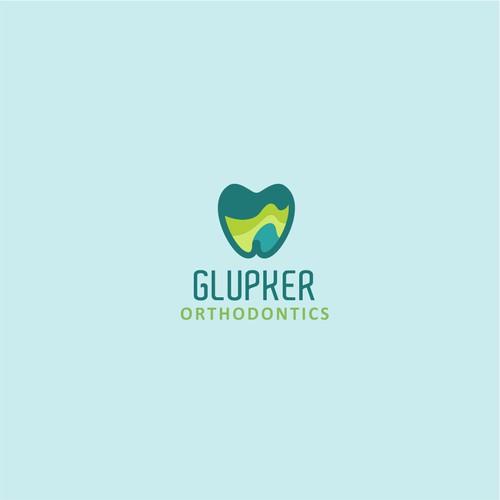 fresh logo for glupker orthodontics