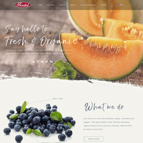 Food grower website design