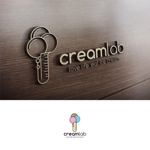 logo for an Ice cream store