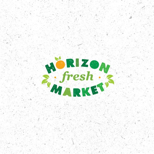 Horizon Market Local Fresh Market Logo Concept