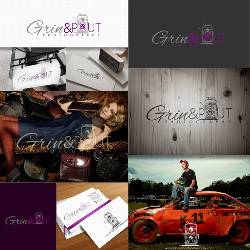 It's logo time for Grin & Pout Photography