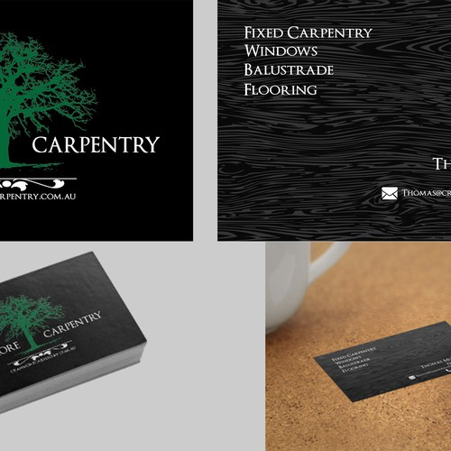Create a contemporay logo for a carpentry company