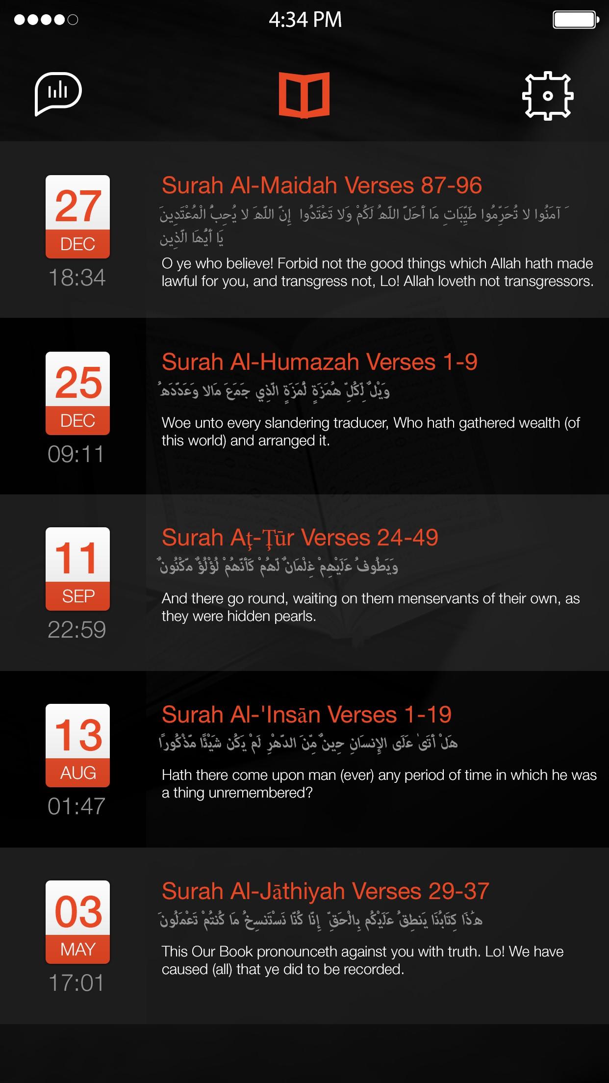 App for quran speech recignition
