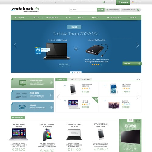 Electronic Sales Website