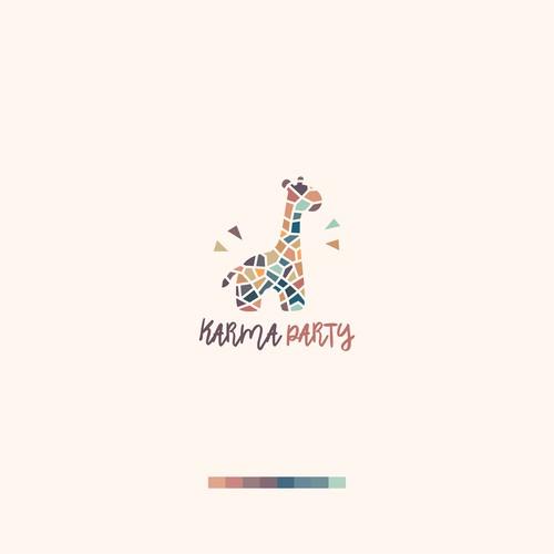 Giraffe Mozaic Logo for Karma Party