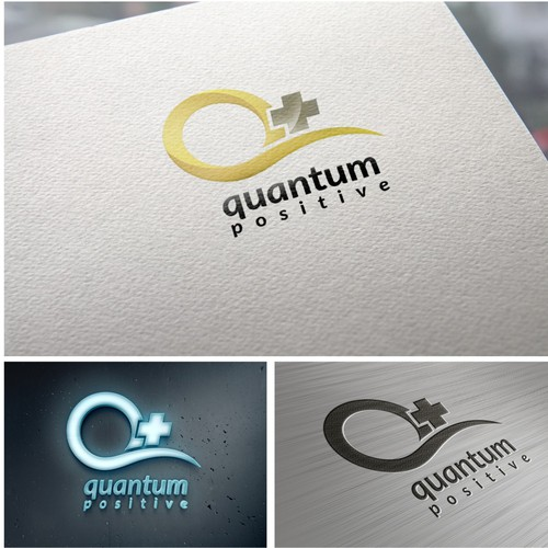 Create a brand logo for a new green, humanity conscious company: Quantum Positive