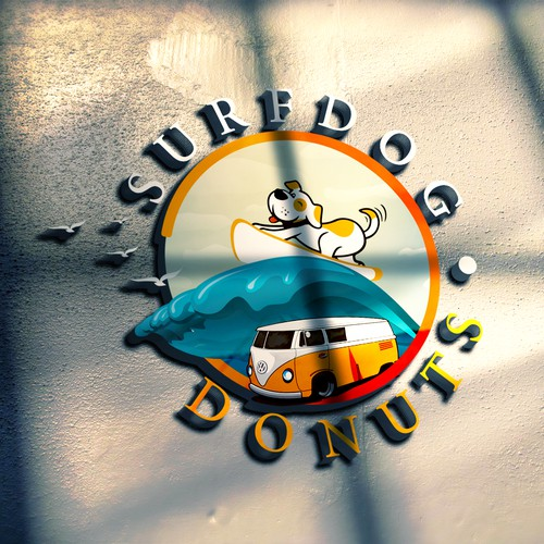 Beach Donut shop - VW Bus