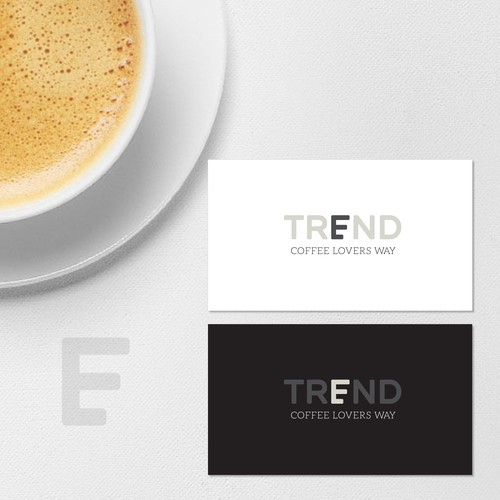 a minimalist logo for a coffee shop