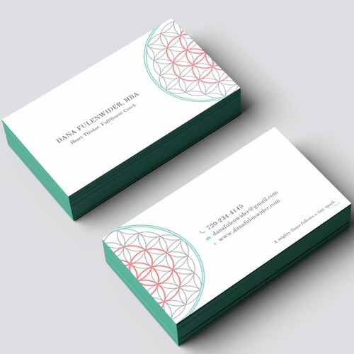 Life Coach Business Card Design