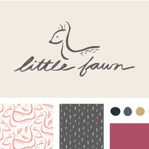 Delicate logo for a modern baby clothing company
