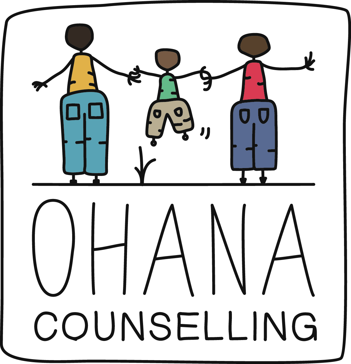 Need edgy design to attract young families to seek counselling as needed. Also... FYI OHANA is Hawaiian for family