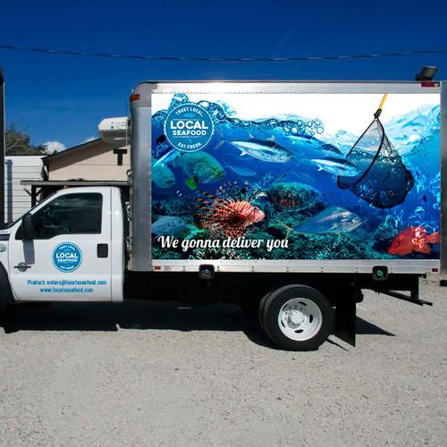 Local Seafood Truck Design Branding