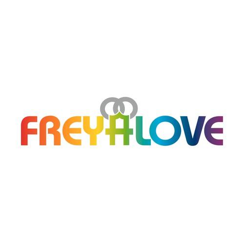 winning logo for Freyalove