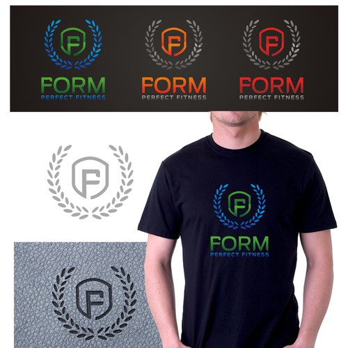 Freedom to have fun with creating a design for a fitness products company, Form Perfect Fitness.