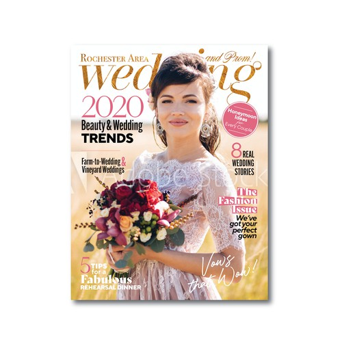 Wedding magazine cover & logo