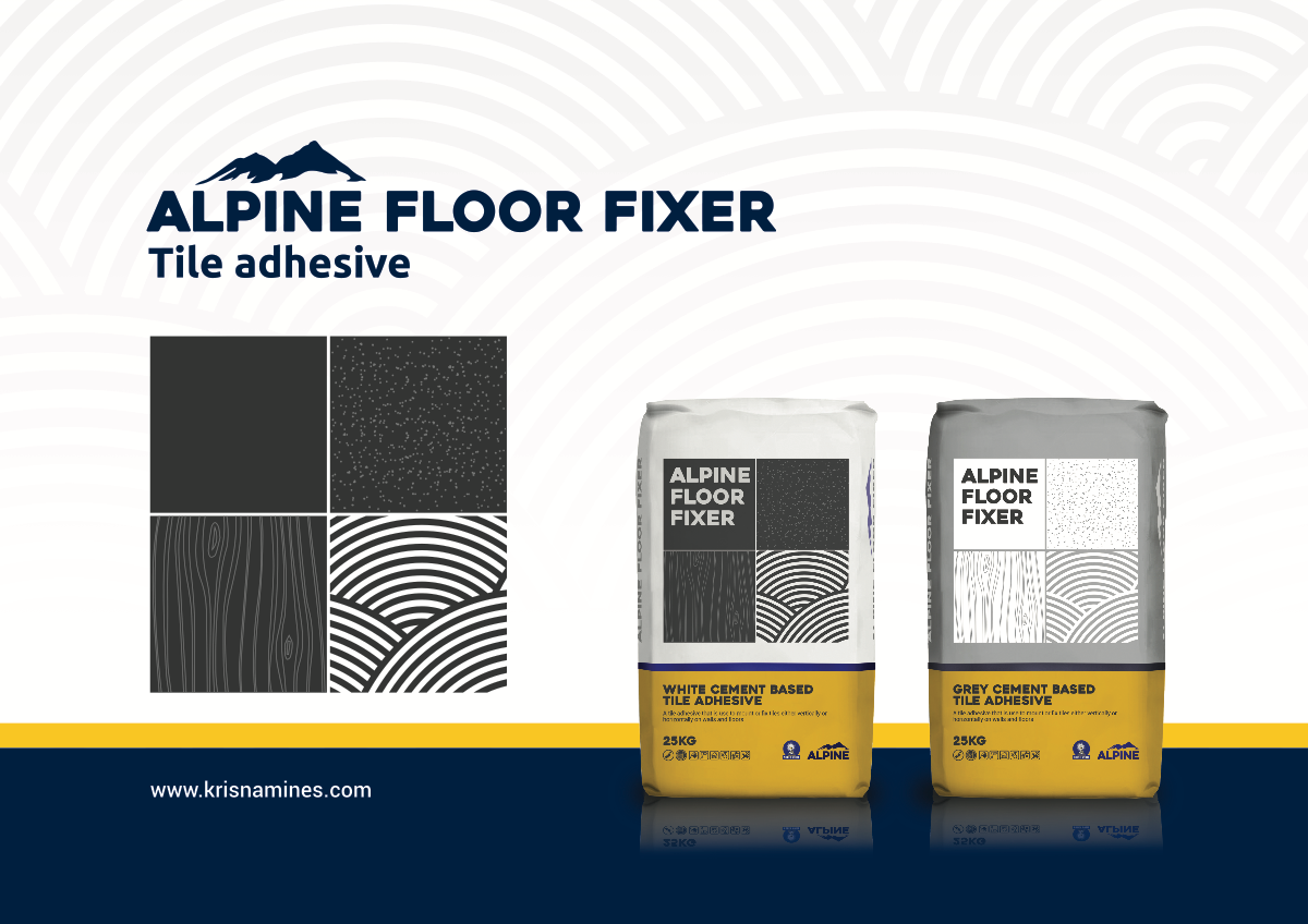 Create a Flyer for Floor Fixer Tile Adhesive
