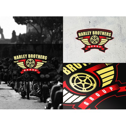 create a hot logo for a group of harley bikers