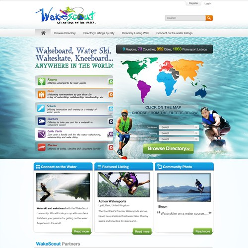 WakeScout.com website redesign (5 pages, blind contest)