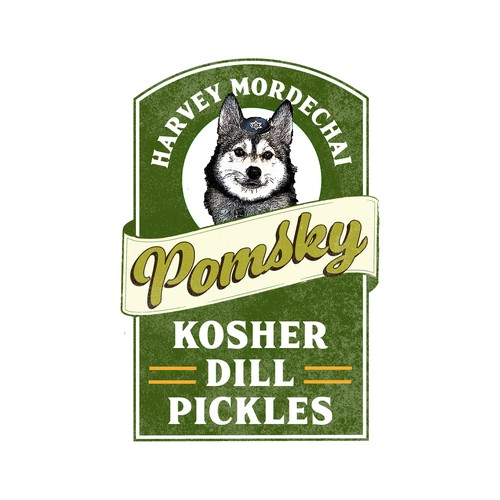 Logo concept for kosher pickle company