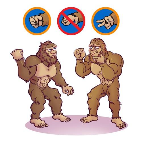 Illustration design with sasquatch.