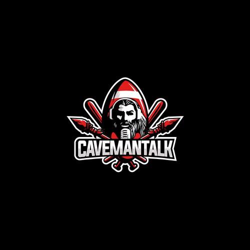 emblem logo concept for cavemantalk