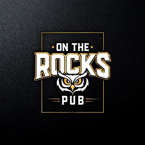 Bold logo concept for On The Rocks Pub