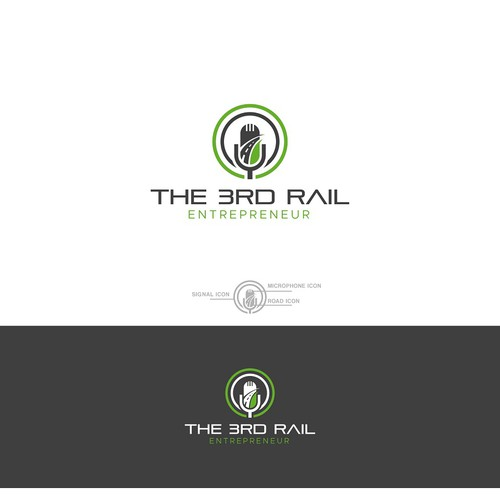 Rail road construction podcast logo