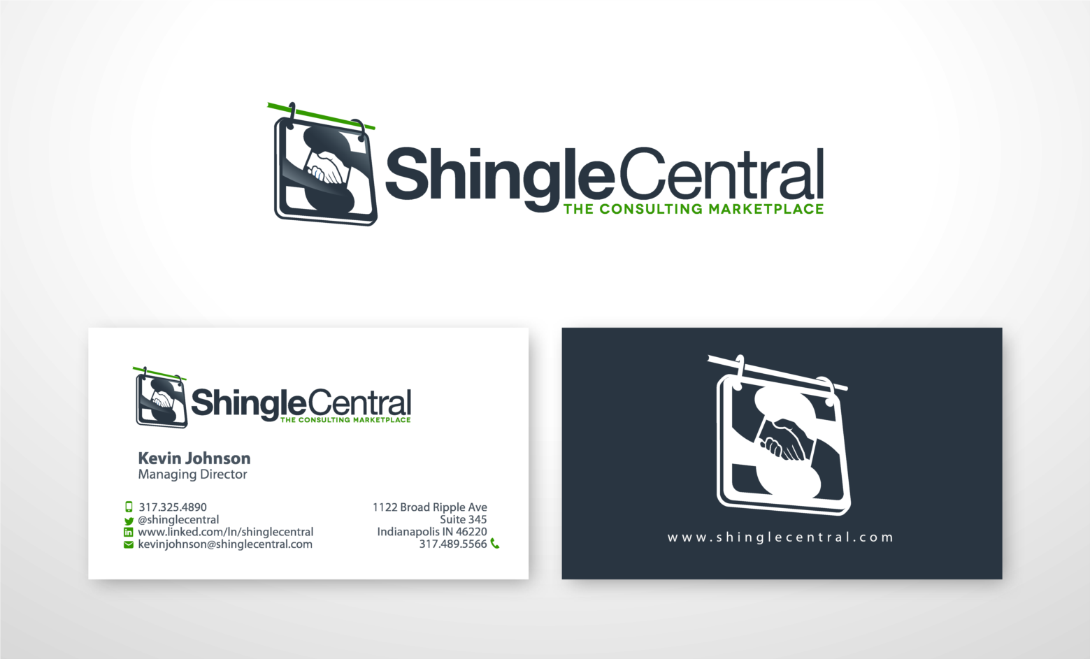 logo and business card for new start-up, online marketplace