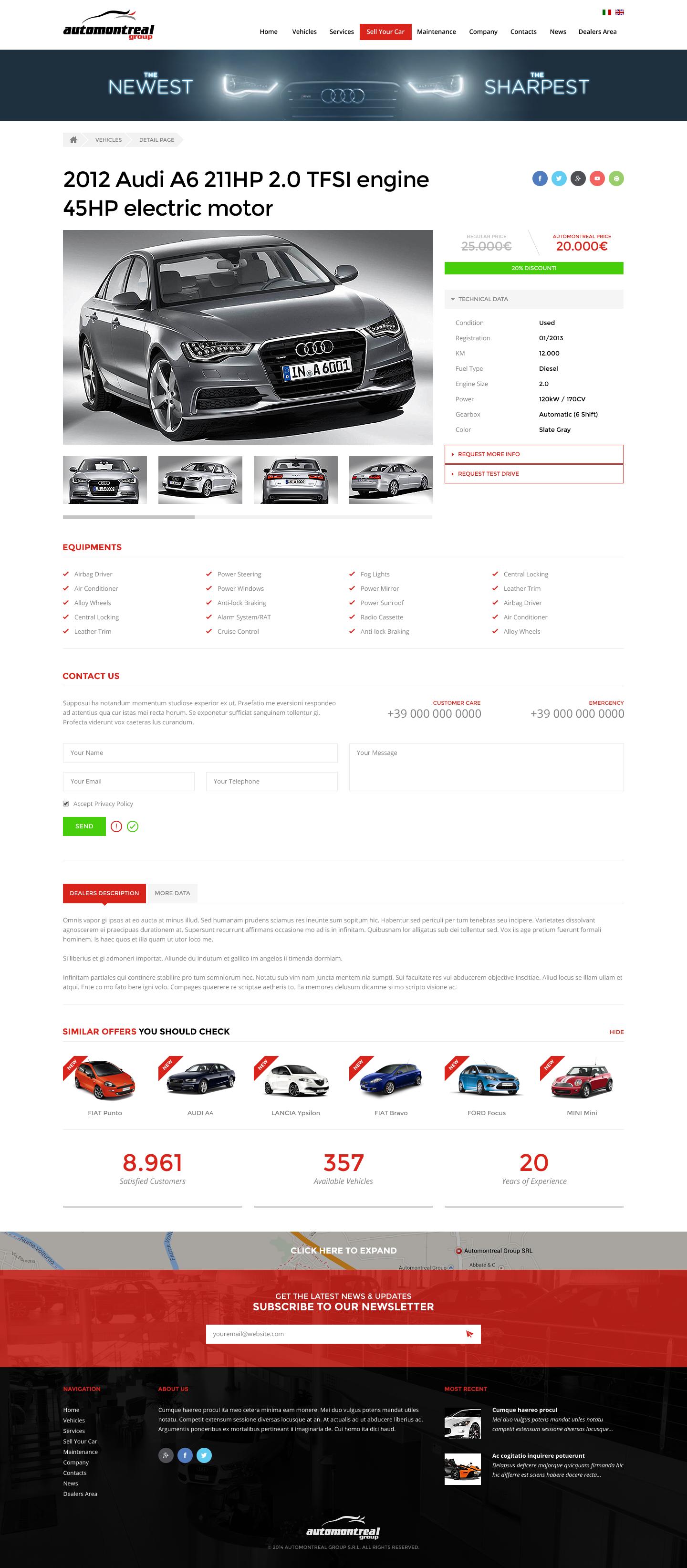 New website for AutomontrealGroup  - Automotive Company
