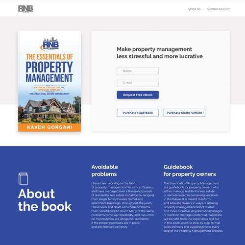 Real Estate eBook landing page